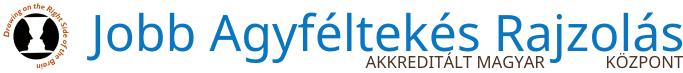 Jobb Agyféltekés Rajzolás  - Akkreditált Magyarországi Központ Logo